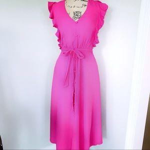 1. State Ruffle Midi Dress Pink